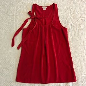 J.Crew Drapey Pleated Sleeveless Top with Bow